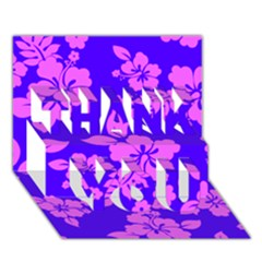 Hawaiian Evening Thank You 3d Greeting Card (7x5)  by AlohaStore
