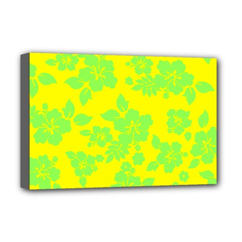Bright Hawaiian Deluxe Canvas 18  X 12   by AlohaStore