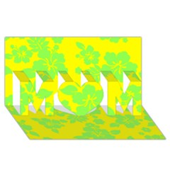Bright Hawaiian Mom 3d Greeting Card (8x4)  by AlohaStore