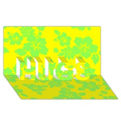 Bright Hawaiian Hugs 3d Greeting Card (8x4)  by AlohaStore