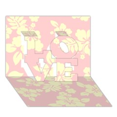 Pastel Hawaiian Love 3d Greeting Card (7x5)
