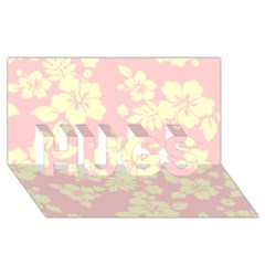 Pastel Hawaiian Hugs 3d Greeting Card (8x4)  by AlohaStore