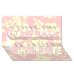 Pastel Hawaiian Congrats Graduate 3d Greeting Card (8x4)  by AlohaStore