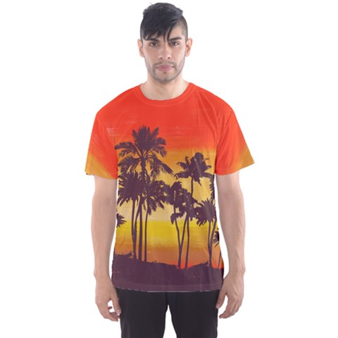 Palm Trees2 Men s Sport Mesh Tee by Wanni