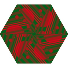 Red And Green Abstract Design Mini Folding Umbrellas by Valentinaart