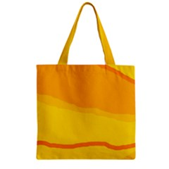 Yellow Decorative Design Zipper Grocery Tote Bag by Valentinaart
