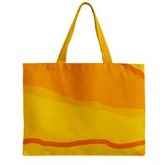 Yellow Decorative Design Zipper Mini Tote Bag by Valentinaart