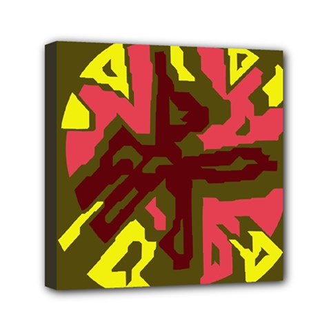 Abstract Design Mini Canvas 6  X 6  by Valentinaart