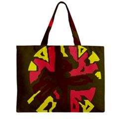 Abstract Design Zipper Mini Tote Bag by Valentinaart