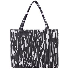 Black And White Elegant Pattern Mini Tote Bag by Valentinaart