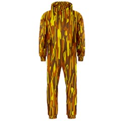 Yellow Pattern Hooded Jumpsuit (men)  by Valentinaart