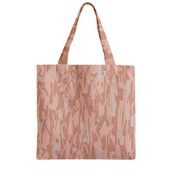 Pink Pattern Zipper Grocery Tote Bag by Valentinaart