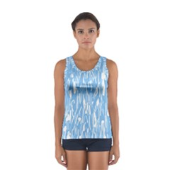 Blue Pattern Women s Sport Tank Top  by Valentinaart