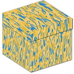 Yellow And Blue Pattern Storage Stool 12   by Valentinaart
