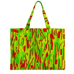 Green And Red Pattern Zipper Mini Tote Bag by Valentinaart