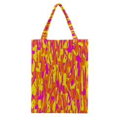Pink And Yellow Pattern Classic Tote Bag by Valentinaart