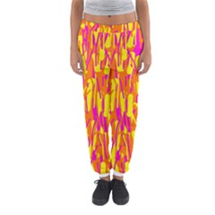 Pink And Yellow Pattern Women s Jogger Sweatpants by Valentinaart
