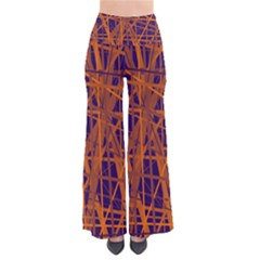 Blue And Orange Pattern Pants by Valentinaart