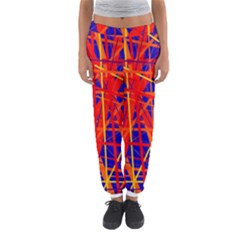 Orange And Blue Pattern Women s Jogger Sweatpants by Valentinaart