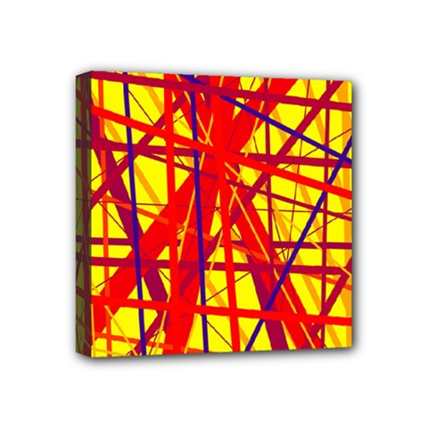 Yellow And Orange Pattern Mini Canvas 4  X 4  by Valentinaart