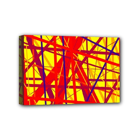 Yellow And Orange Pattern Mini Canvas 6  X 4  by Valentinaart