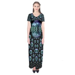 One Woman One Island And Rock On Short Sleeve Maxi Dress by pepitasart