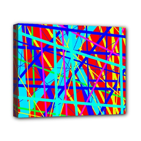 Colorful Pattern Canvas 10  X 8  by Valentinaart