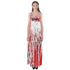 Red, Black And White Pattern Empire Waist Maxi Dress by Valentinaart