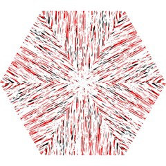 Red, Black And White Pattern Mini Folding Umbrellas by Valentinaart