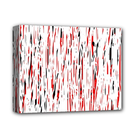 Red, Black And White Pattern Deluxe Canvas 14  X 11  by Valentinaart
