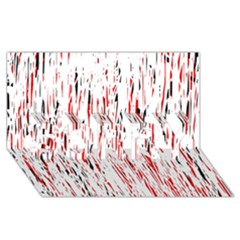 Red, Black And White Pattern Sorry 3d Greeting Card (8x4)  by Valentinaart