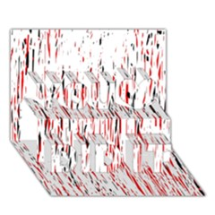 Red, Black And White Pattern You Did It 3d Greeting Card (7x5)