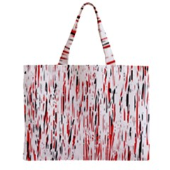 Red, Black And White Pattern Zipper Mini Tote Bag by Valentinaart