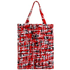 Red, White And Black Pattern Classic Tote Bag by Valentinaart