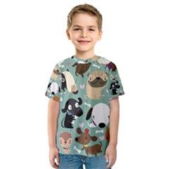 Dog Pattern Kid s Sport Mesh Tee