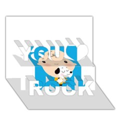 Snoopy You Rock 3d Greeting Card (7x5)  by Mjdaluz