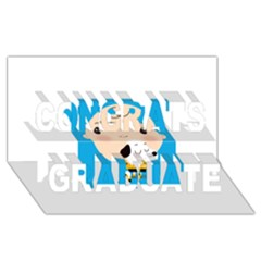Snoopy Congrats Graduate 3d Greeting Card (8x4)  by Mjdaluz
