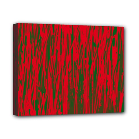 Red And Green Pattern Canvas 10  X 8