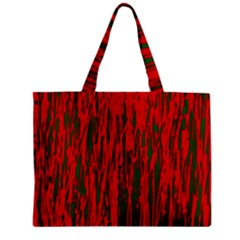 Red And Green Pattern Zipper Mini Tote Bag by Valentinaart