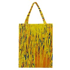 Yellow Pattern Classic Tote Bag by Valentinaart