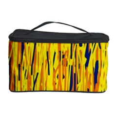Yellow Pattern Cosmetic Storage Case by Valentinaart