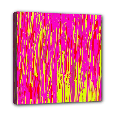 Pink And Yellow Pattern Mini Canvas 8  X 8  by Valentinaart