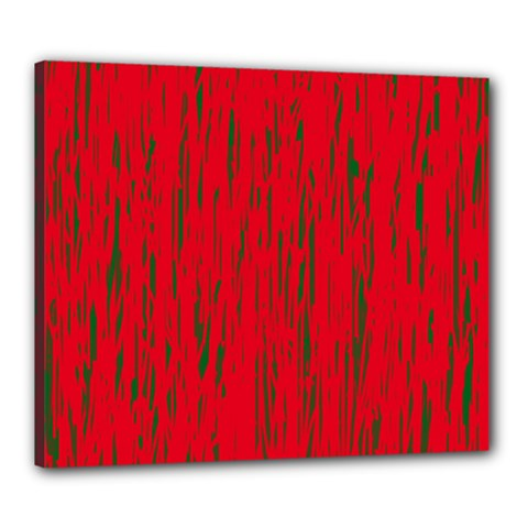Decorative Red Pattern Canvas 24  X 20  by Valentinaart