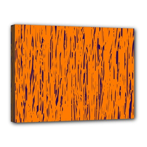 Orange Pattern Canvas 16  X 12  by Valentinaart