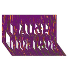 Purple Pattern Laugh Live Love 3d Greeting Card (8x4)