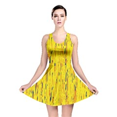 Yellow Pattern Reversible Skater Dress by Valentinaart