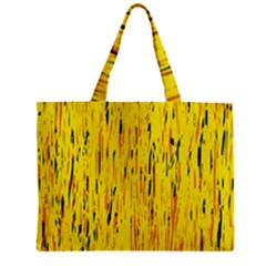Yellow Pattern Zipper Mini Tote Bag by Valentinaart