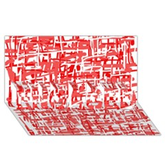 Red Decorative Pattern Engaged 3d Greeting Card (8x4)  by Valentinaart
