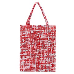 Red Decorative Pattern Classic Tote Bag by Valentinaart