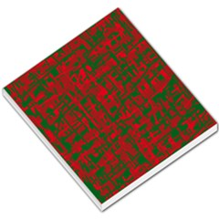 Green And Red Pattern Small Memo Pads by Valentinaart